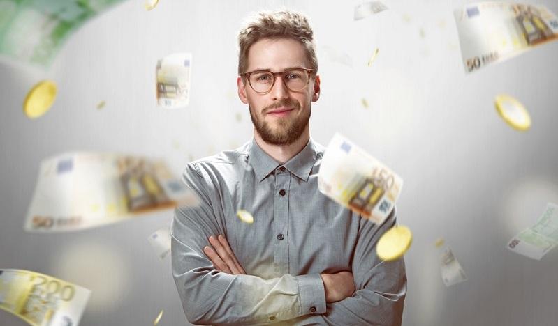 Erfolgreiche Außendienstmitarbeiter schwimmen geradezu im Geld, während der Innendienstmitarbeiter im Büro mit einem mittelmäßigen Einkommen auskommen muss. (#01)